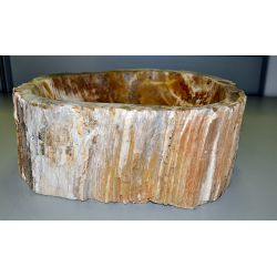Wash basin of petrified wood, no. 1533