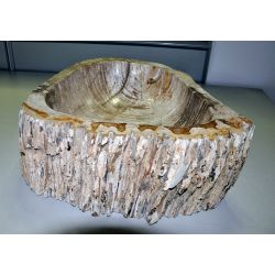 Wash basin of petrified wood, no. 1680
