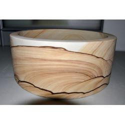 Wash basin sandstone round, straight edge, no. 1686