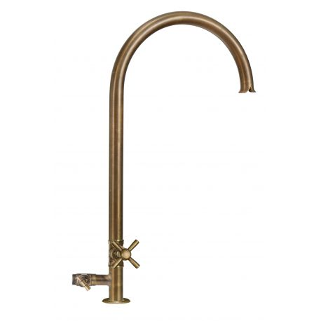 Water tap with cross plug and hose connector