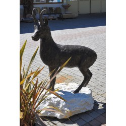 Chamois (big size) made of bronze on marble base from Laas no. 1956
