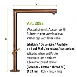 "Water tap with lever valve and inside thread 3/4"",  art. 2093"