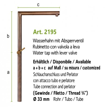 Water tap with plug valve