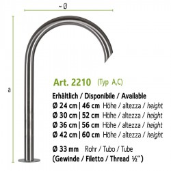 """Water tap without shut-off valve with inside thread 3/4"""", art. 2010"""