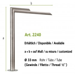 Water tap in stainless steel, art. 2240