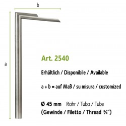 Stainless steel water tap, art. 2540 (installation on the ground, fountain wall with art. 4012b)